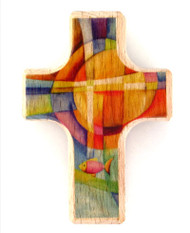 Cross and Ichthys Pocket Prayer