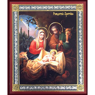 Nativity of Christ With Seraphim Angels Wooden Icon