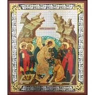 Resurrection Of Christ Russian Wooden Icon