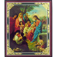 Christ With Children Icon