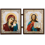 Mini Diptych Virgin Mary of Kazan & Christ the Teacher