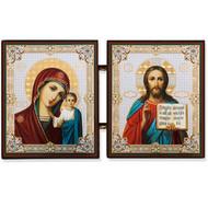 Mini Diptych Virgin Mary of Kazan & Christ the Teacher