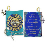 "Holy Spirit"" Bernini Inspired Tapestry Pouch Keepsake Pouch - Turquoise"