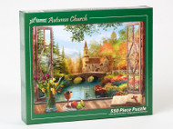 Autumn Church Jigsaw Puzzle