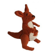 Knit Rattle - Kangaroo