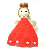 Angel Ornament - Red