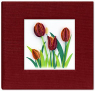 Red Tulip Sticky Notebook Cover