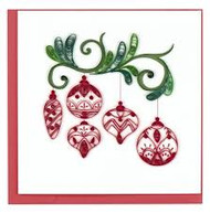 Red Ornaments Note Card