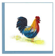 Quilled Colorful Rooster Greeting Card