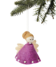 Angel Ornament - Purple