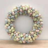 Easter Egg Wreath, 22""