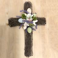 Rattan Floral Cross