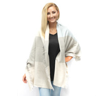Melly Scarf - Gray/White/Pink