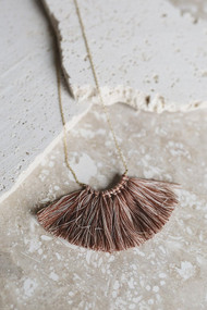 Mini Tassel Necklace - Cinnamon