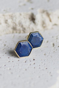 Brooklyn Stud Earrings - Lapis