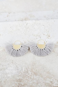 Favorite Fringe Earrings - Gray