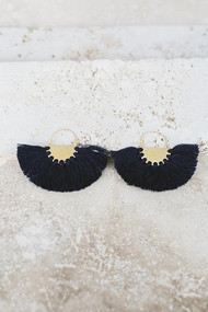 Copy of Favorite Fringe Earrings - Black