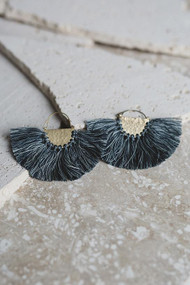 Favorite Fringe Earrings - Blue Gray