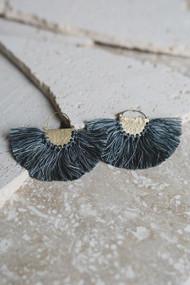 Favorite Fringe Earrings - Blue Gray