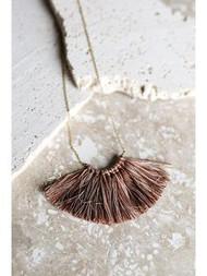 Fringe Necklace - Cinnamon