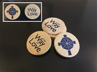 Way of Love Wooden Coin