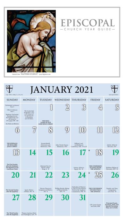 Episcopal Church Calendar 2022.2022 Calendar Episcopal Lectionary Calendar 2021