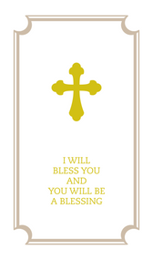 I Will Bless You and You Will Be a Blessing Commemorative Wedding Booklet , Gift Edition
