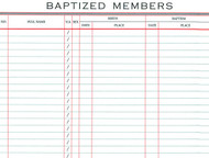 Register of Baptized Members #82 - Small Size