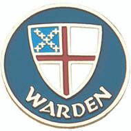 Warden Lapel Pin - Episcopal Shield