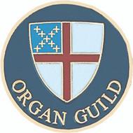 Organ Guild Lapel Pin - Episcopal Shield