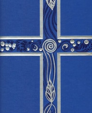 Ceremonial Binder - Blue with Silver Foil