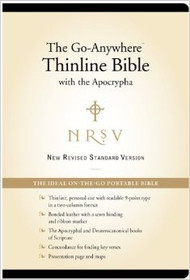 The Go-Anywhere Thinline Bible with the Apocrypha - NRSV (Bonded Leather, Black)