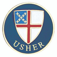 Usher Lapel Pin - Episcopal Shield
