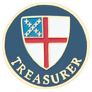 Treasurer Lapel Pin - Episcopal Shield