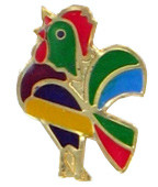 De Colores Rooster Lapel Pin
