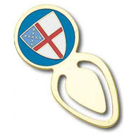 Gold Plated Episcopal Shield Bookmark