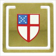 Episcopal Shield Brass Bookmark