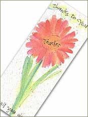 Teacher Bookmark with Tea Bag