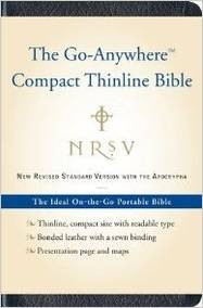 The Go-Anywhere Compact Thinline Bible with Apocrypha: NRSV (Bonded Leather, Navy)