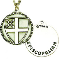 Episcopal Shield Pendant (Sterling)