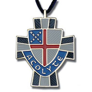 Episcopal Shield Acolyte Cross Pendant