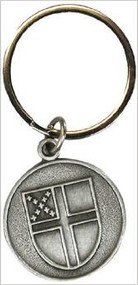 Pewter Episcopal Shield Key Ring