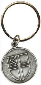 Pewter Episcopal Shield Key Ring