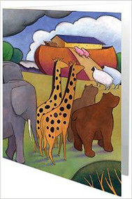 Noah's Ark Note Cards (Blank inside, box of 12)