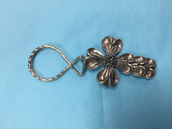 Dogwood Cross Keychain