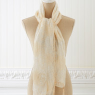 Creamy White Vintage Lace Scarf