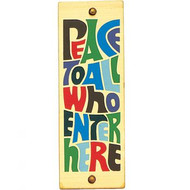 Peace to All Who Enter Here House Blessing (Rectangular)