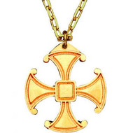 Canterbury Cross Pendant Gold