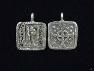 Saints Be With You Handmade Saints Medal - St. Christopher, Patron of Motorists and Surfers