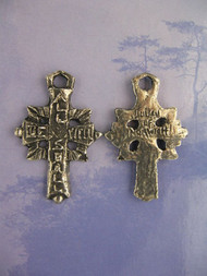 Saints Be With You Handmade Medal - All Shall Be Well Cross (Julian of Norwich)